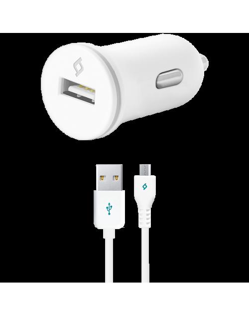 ttec Compact Araç Şarj Aleti Micro USB 1000 mA Beyaz