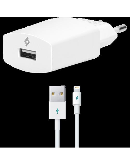 ttec Compact Seyahat Şarj Aleti Lightning Kablolu 1000mA Beyaz
