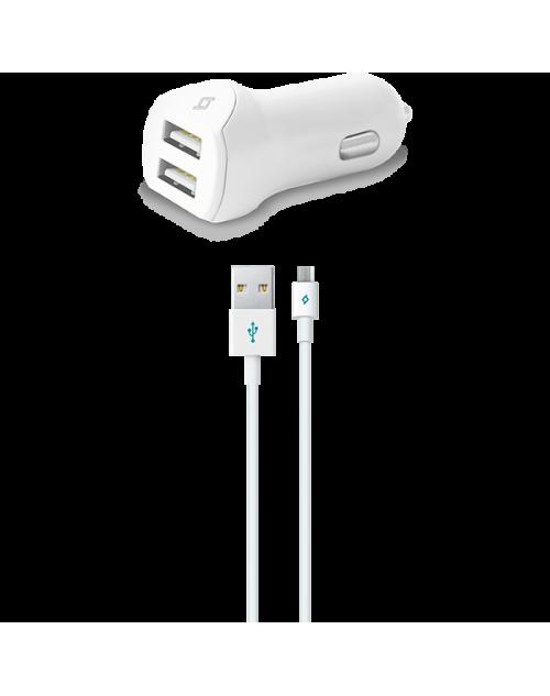 ttec SpeedCharger Duo Araç Şarj Aleti Çift USB 3.1A Micro USB Kablolu